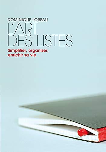 9782501056816: L'art des listes : Simplifier, organiser, enrichir sa vie (Marabout Psy)