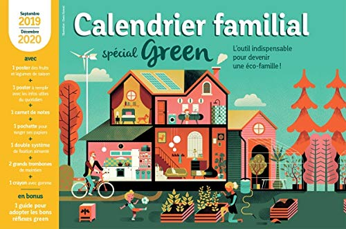 9782501142076: Calendrier familial 2019-2020 special green