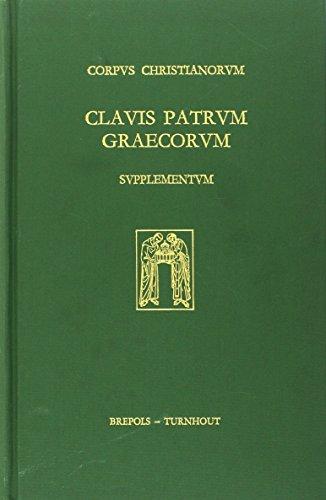 9782503050614: Clavis Patrum Graecorum. Supplementum