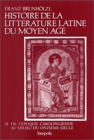 histoire de la litterature latine au moyen age: Brunholzl