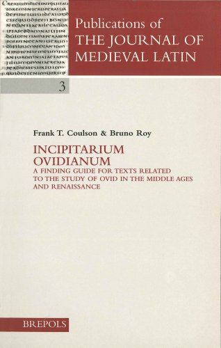 9782503507859: Incipitarium Ovidianum (Publications of the Journal of Medieval Latin)