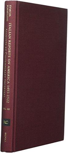 9782503514031: Italian Reports on America, 1493-1522: Accounts by Contemporary Observers (Repertorium Columbianum)