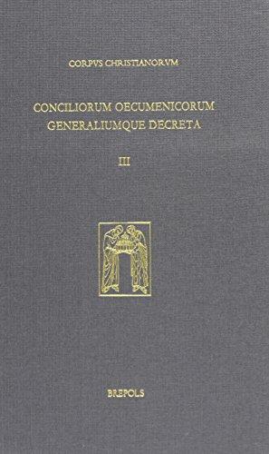9782503525280: Oecumenical Councils of the Roman Catholic Church: From Trent to Vatican II (1545-1965) (Corpus Christianorum Conciliorum Oecumenicorum Et Generalium) (English and Latin Edition)