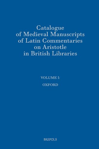 Catalogue of Medieval Manuscripts of Latin Commentaries: Thomson, Rodney