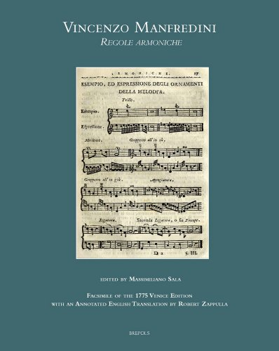 9782503548838: Vincenzo Manfredini, Regole armoniche: Fac-simile of the 1775 Venice edition, with an annotated English translation by Robert Zappulla (Musical Treatises)