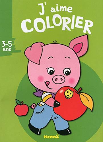 9782508019760: J'aime colorier : Petit cochon (3-5 ans)
