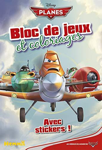 9782508021831: Planes - Bloc de jeux et coloriages avec stickers