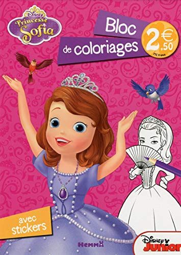 9782508027604: Princesse Sofia - Bloc de coloriages avec stickers