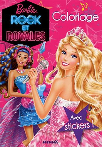 9782508030093: Barbie rock et royales : Coloriage avec stickers !