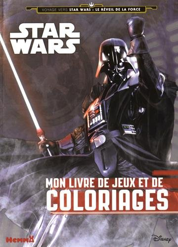 9782508030925: Disney Star Wars - 96 pages de jeux et de coloriages (Dark Vador)