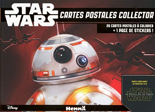 9782508031021: Cartes postales collector Star Wars : 20 cartes postales à colorier + 1 page de stickers ! (Disney Star Wars)