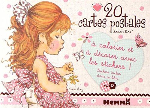 9782508032417: 20 cartes postales Sarah Kay : A colorier et décorer avec les stickers !
