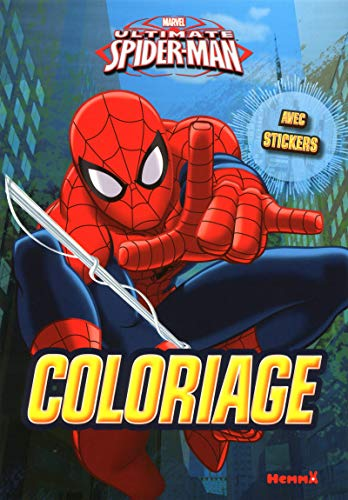 9782508033650: Marvel Ultimate Spider-Man - Coloriage avec stickers