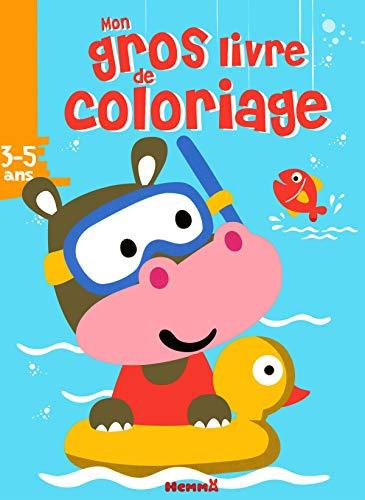 9782508041723: Mon gros livre de coloriage (Hippopotame dans bouée)