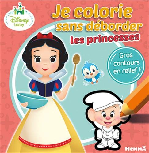 9782508042553: Disney Baby - Je colorie sans déborder (Princesses)