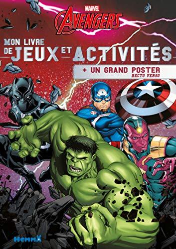 9782508043345: Marvel Avengers - Mon livre de Jeux et Activités + un grand poster