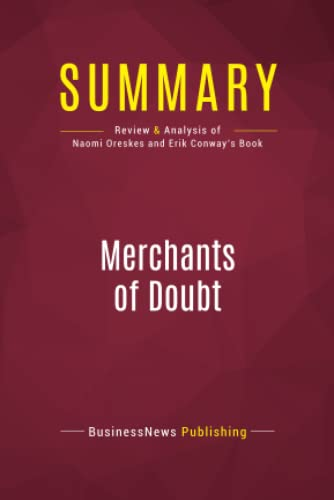 Summary: Merchants of Doubt: Review and Analysis: Publishing, Businessnews