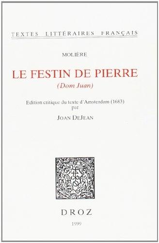 9782600003001: Le festin de pierre (Dom Juan) (Textes littéraires français)