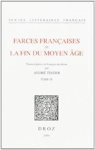 9782600003612: Farces fran�aises de la fin du Moyen Age