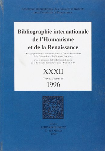 Bibliographie internationale de l'humanisme et de la renaissance: Collectif