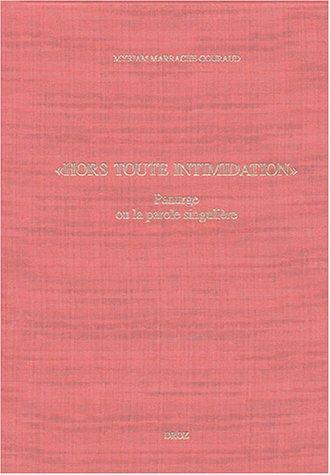 """Etudes rabelaisiennes. T. XLI, """"Hors toute intimidation"""" : Panurge ou la parole singulière:..."""
