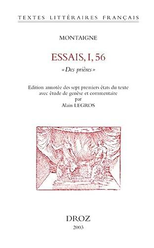 Essais, I, 56 : Des prières: Michel de Montaigne