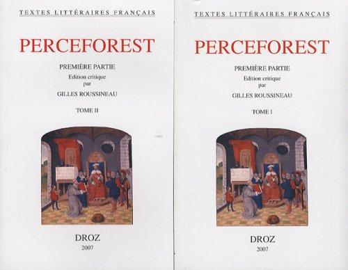 9782600011334: Le Roman de Perceforest. Premiere Partie: Edition Critique (Textes Litteraires Francais)