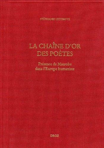 La Chaîne d'or des poètes : présence: Lecompte, Stéphanie