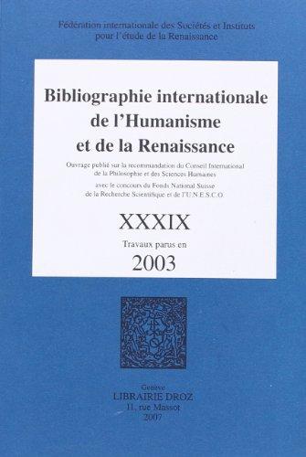 9782600012089: Bibliographie Internationale de l'Humanisme et de la Renaissance
