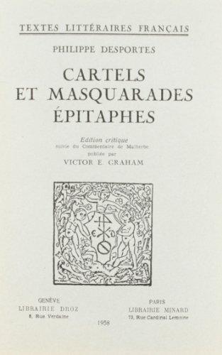 9782600023962: Cartels et Masquarades, Epitaphes