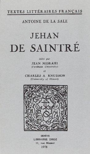 9782600024099: Jehan de Saintre
