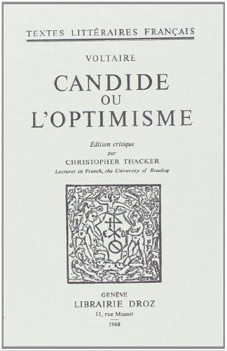 Candide Loptimisme First Edition Abebooks