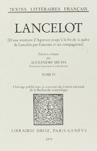 9782600025515: Lancelot : Roman en Prose du Xiiie Siecle