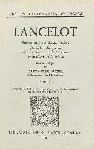 9782600025591: Lancelot : Roman en Prose du Xiiie Siecle