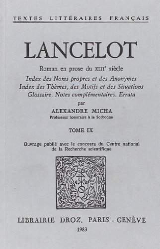 9782600025850: Lancelot : Roman en Prose du Xiiie Siecle