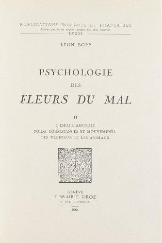 "Psychologie des ""Fleurs du Mal"": Bopp l on"