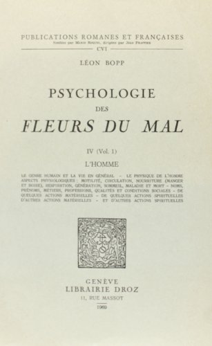 """9782600028103: Psychologie des """"Fleurs du Mal"""""""