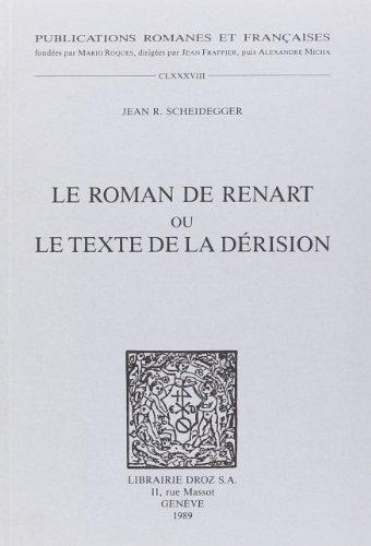9782600028783: Le Roman de Renart Ou le Texte de la Derision