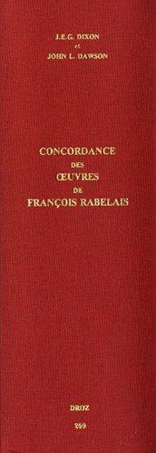 9782600031714: Etudes rabelaisiennes : Tome 26, Concordance des oeuvres de François Rabelais (Travaux Humanisme Renaissance)