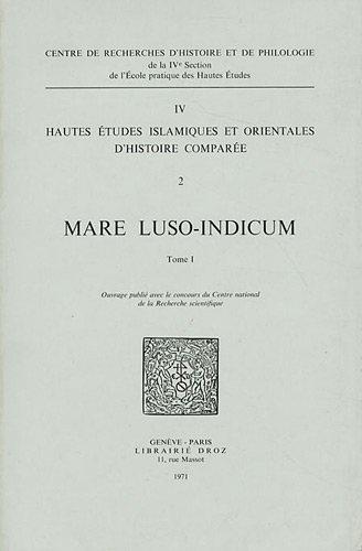 Mare luso-indicum. Études et documents sur l'histoire: Jean Aubin et