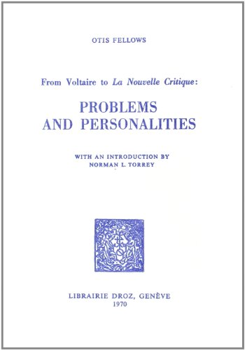 9782600035040: From Voltaire to La Nouvelle Critique: Problems And Personalities