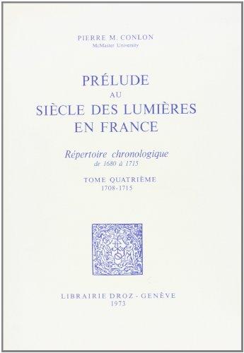 Prélude au siècle des Lumières en France : répertoire chronologique de ...