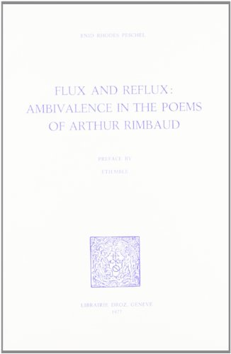 9782600035545: flux and reflux : ambivalence in the poems of arthur rimbaud