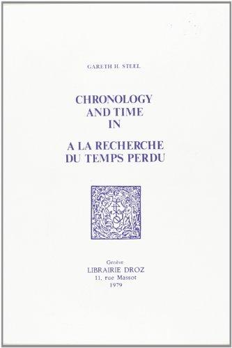 9782600035682: Chronology and Time in A la recherche du temps perdu
