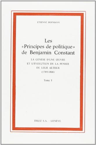 9782600039772: Principes de Politique