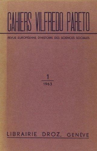 Revue européenne des Sciences sociales et Cahiers Vilfredo Pareto. RESS (CVP), t. I, n°1: Collectif