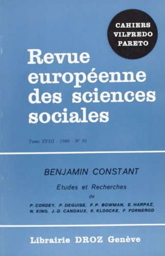 9782600042055: Annales Benjamin Constant, n° 1