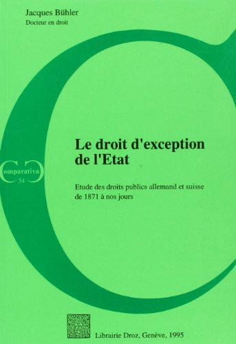 DROIT D EXCEPTION DE L ETAT: BUHLER J