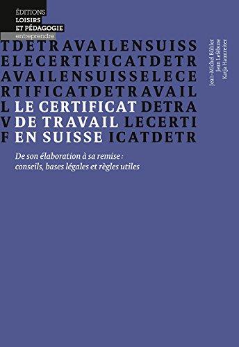 Le certificat de travail en suisse -