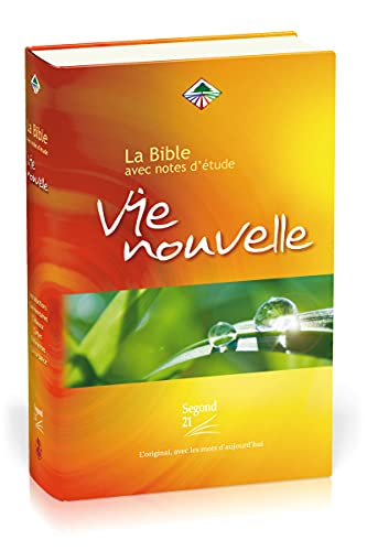 9782608164117: French New Life Bible, Study Bible, La Bible Vie Nouvelle (French Edition)